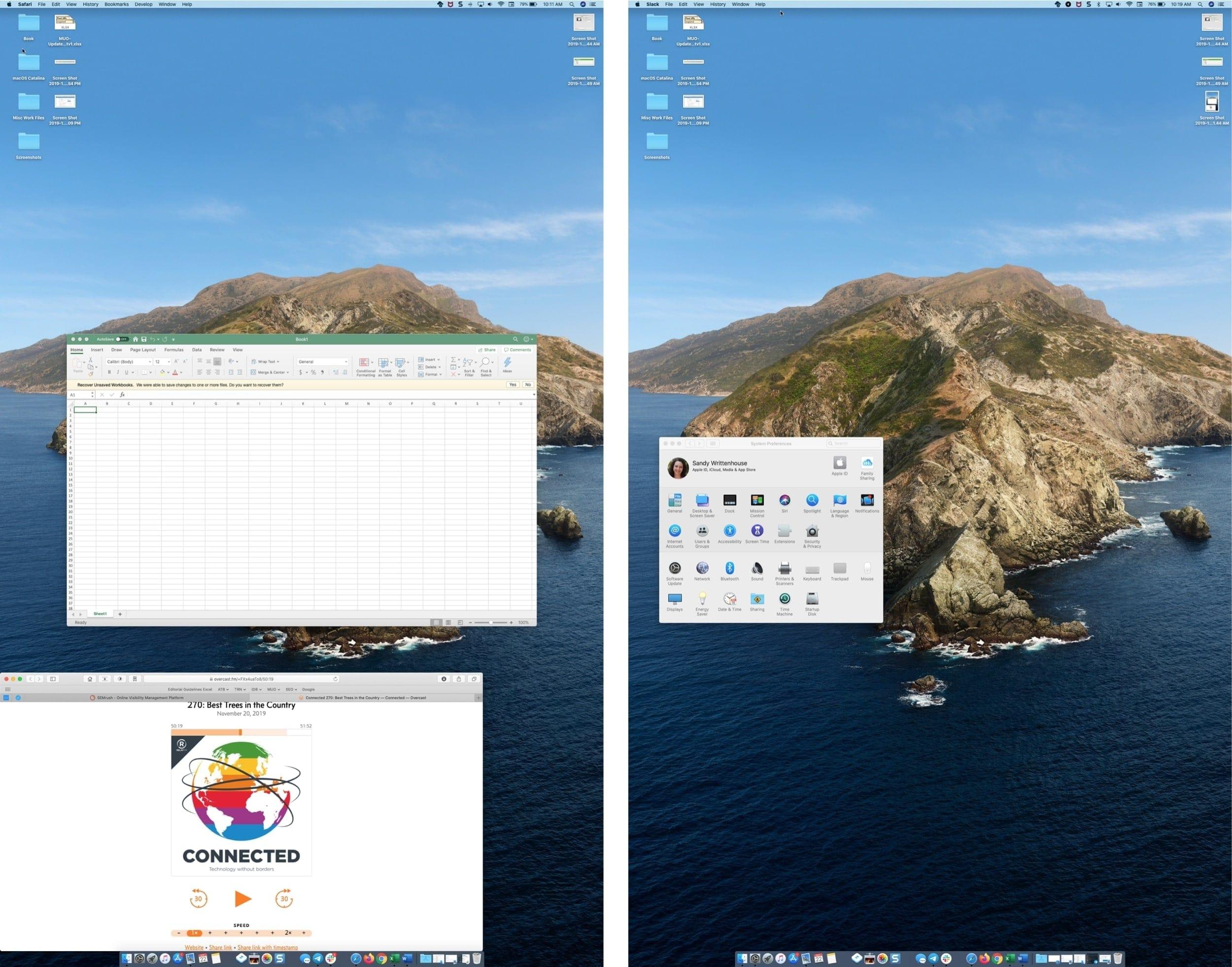Kierrä Mac-näyttöä 90 astetta