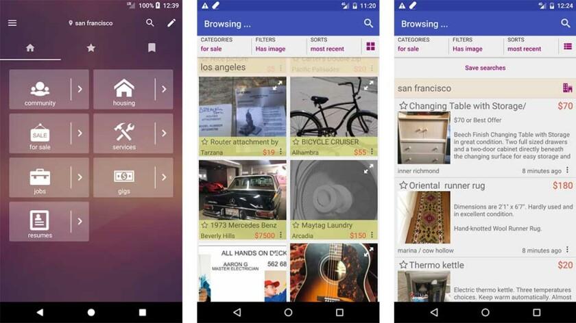 CPlus - parhaat Craigslist-sovellukset Androidille