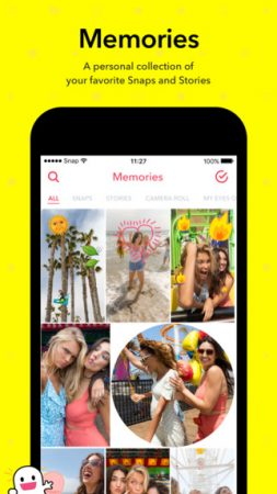 "Snapchat-muistot ""leveys ="" 253 ""korkeus ="" 450"
