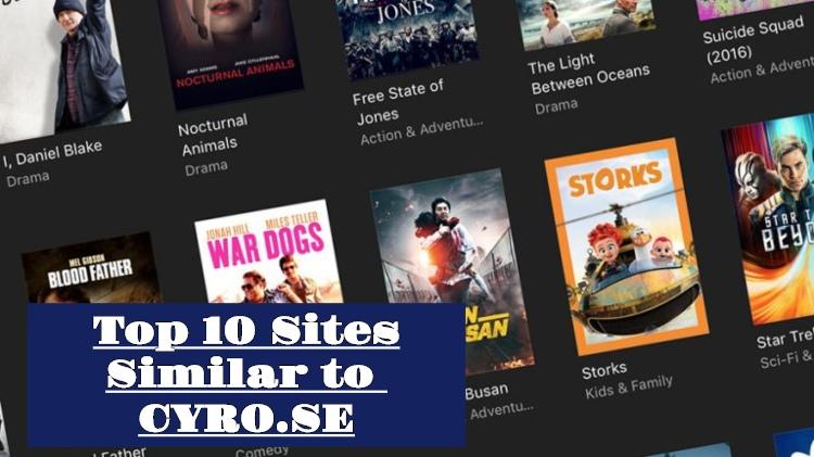 10 suosituinta verkkosivustoa, kuten CYRO.SE, elokuvien katseluun verkossa