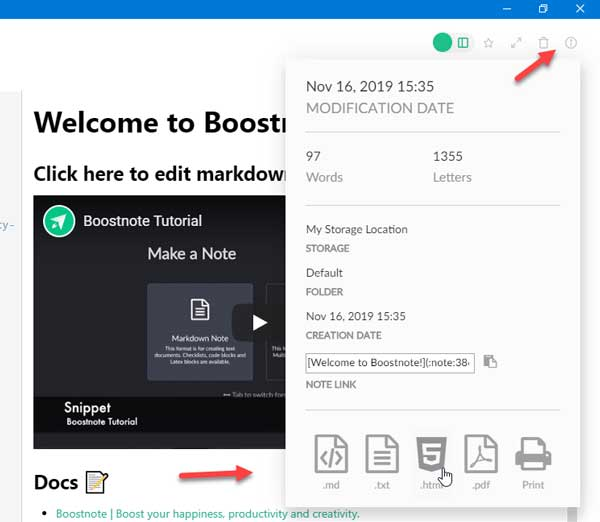 Boostnote to darmowy edytor kodów i Note biorąc oprogramowanie dla Windows 10 1