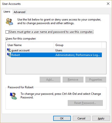 Jak pominąć Windows 10 Ekran logowania i automatyczne logowanie do konta użytkownika 2