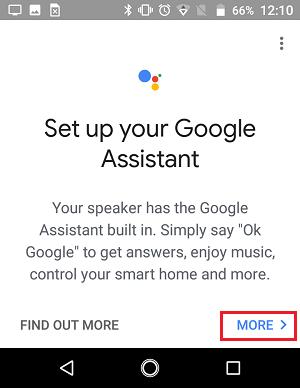 Konfiqurasiya Google Assistant Google Əsas tətbiqetməsində ekran