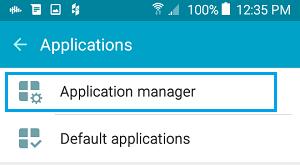 Bir Android telefonunda tətbiq meneceri seçimi
