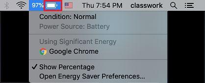 MacBook'dakı batareyanın vəziyyətini yoxlayın