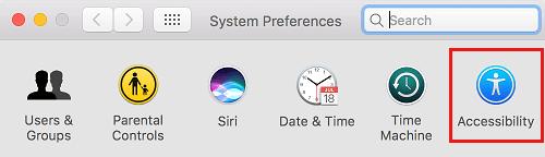 Mac üçün əlçatanlıq seçimi