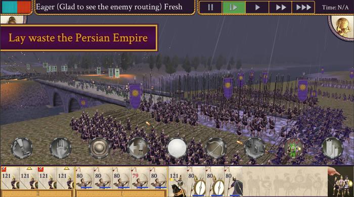 Android iOS Total War Alexander üçün yeni Android oyunları