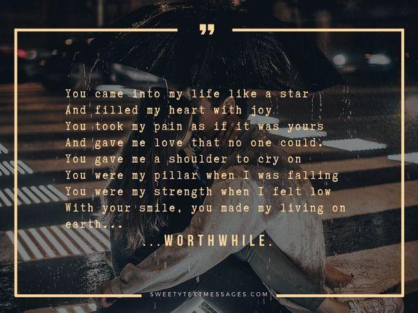 Imponujące wiersze miłosne dla niej z serca