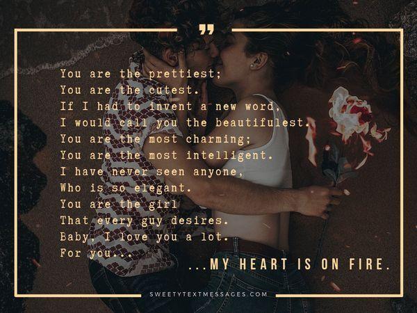Słodkie wiersze dla niej, by oddała komplement