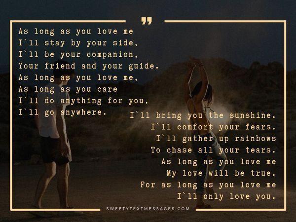 Długie wiersze o miłości do niej od Niego