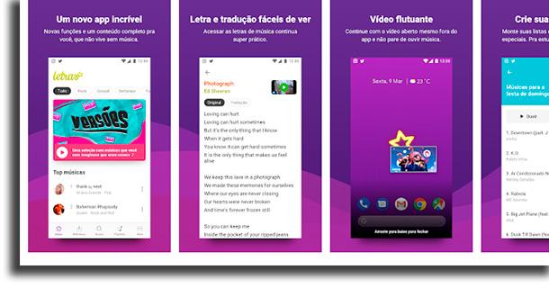 Aplikácie Letras.mus.br na identifikáciu hudby