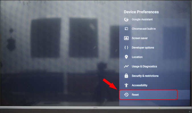"""resetovať Android TV pomocou ponuky nastavení Android TV """"width ="""" 675 """"height ="""" 398"""