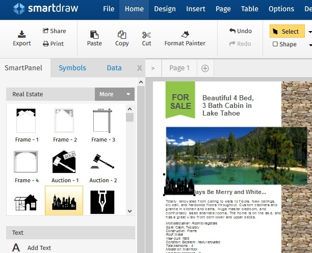 Criando salvaguardas de marketing Smartdraw