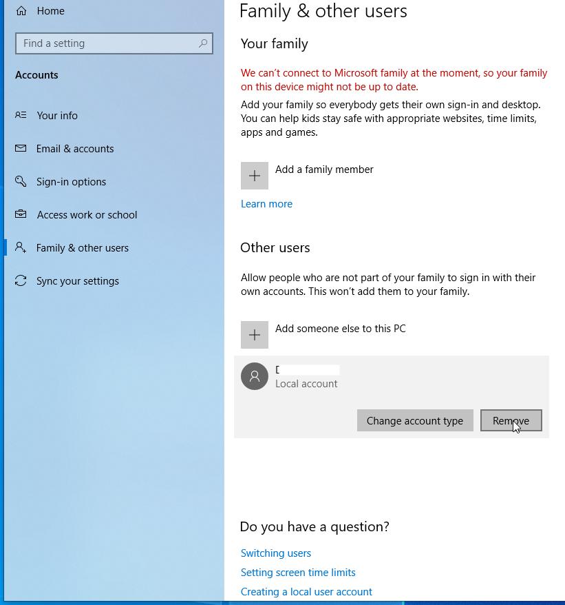 """Windows    10: Odstráňte užívateľský profil 3""""width ="""" 821 """"height ="""" 878"""