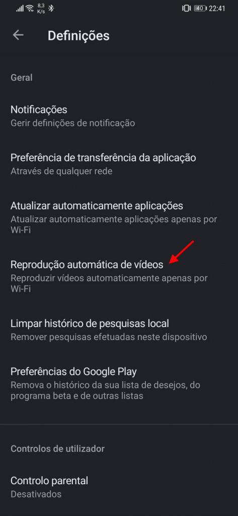 Android mağazasında məlumat istehlakı video oynayır