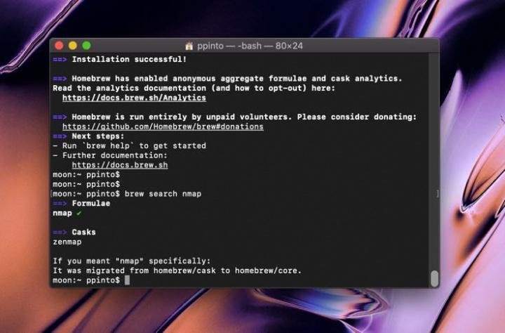 Homebrew: MacOS Catalina 10.15 Linux gücü ilə