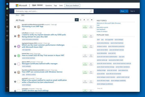Microsoft MSDN və TechNet forumu Microsoft Sual və Cavabları ilə əvəz olunur 2