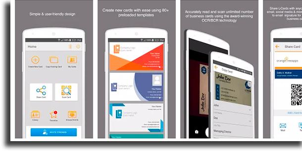 Vizit kartları yaratmaq üçün L-Card Pro tətbiqləri