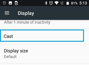 Android parametrləri ekranında yükləmə seçimi