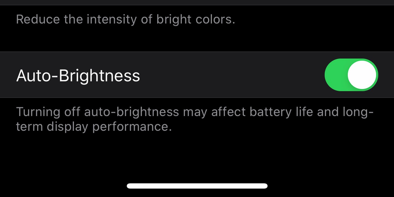 Como desativar o brilho automático no iOS