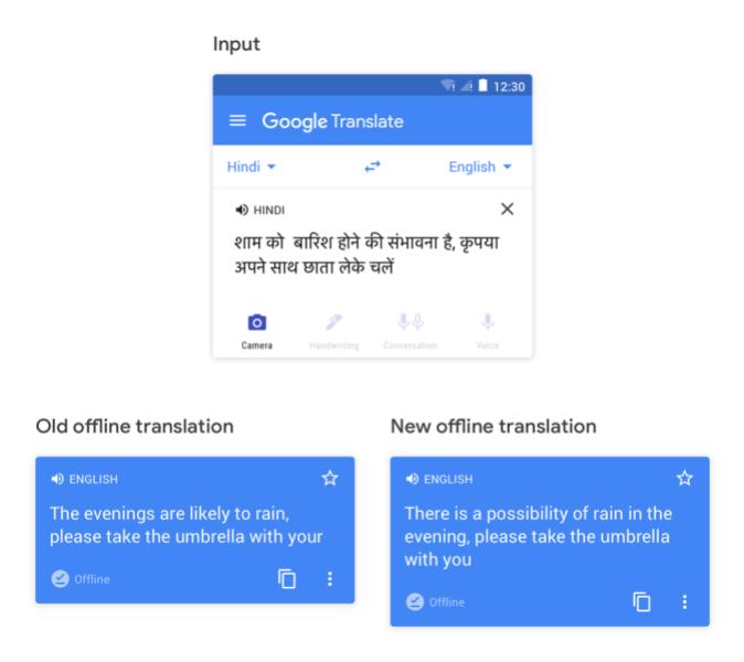 Google Tərcümə, offline tərcüməni optimallaşdırır 1