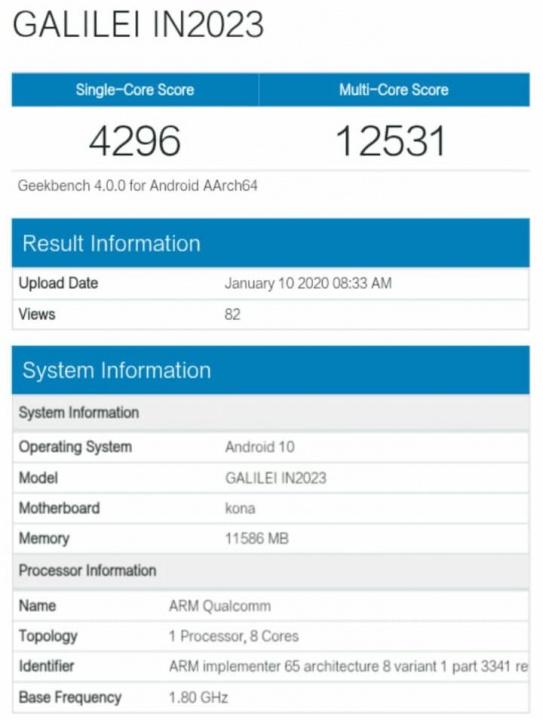 Domniemany smartfon OnePlus 8 przechodzi certyfikat i pierwszy test porównawczy został wydany