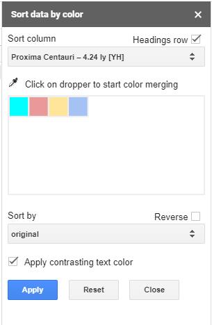 Jak filtrować według koloru w Arkuszach Google 2