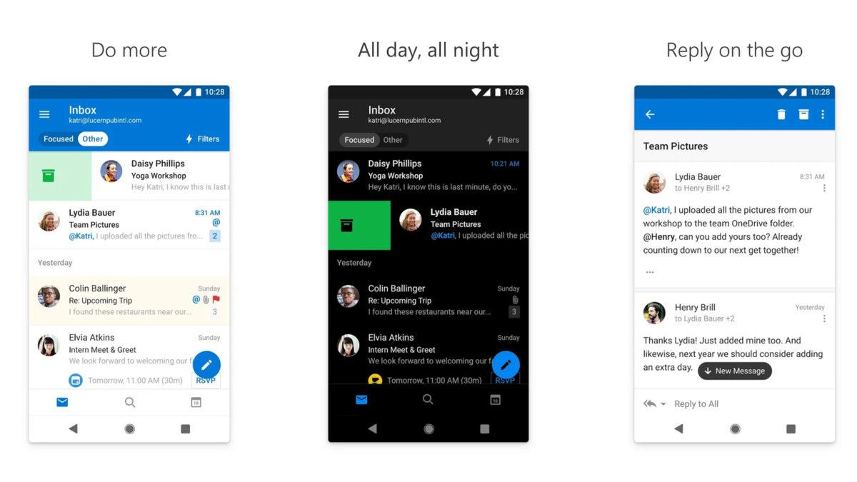 Näyttökuva Microsoft Outlook 2019: stä