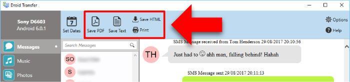 """Ako ukladať a tlačiť správy z telefónu Android pomocou Droid ... 4""""width ="""" 696 """"height ="""" 164"""