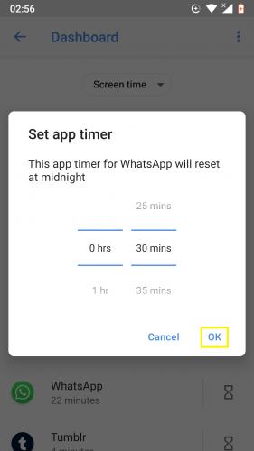 """Ako nastaviť počítadlo aplikácií pre aplikácie pre Android 9 6""""width ="""" 281 """"height ="""" 500"""