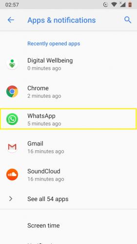"""Ako nastaviť počítadlo aplikácií pre aplikácie pre Android 9 10 """"width ="""" 281 """"height ="""" 500"""