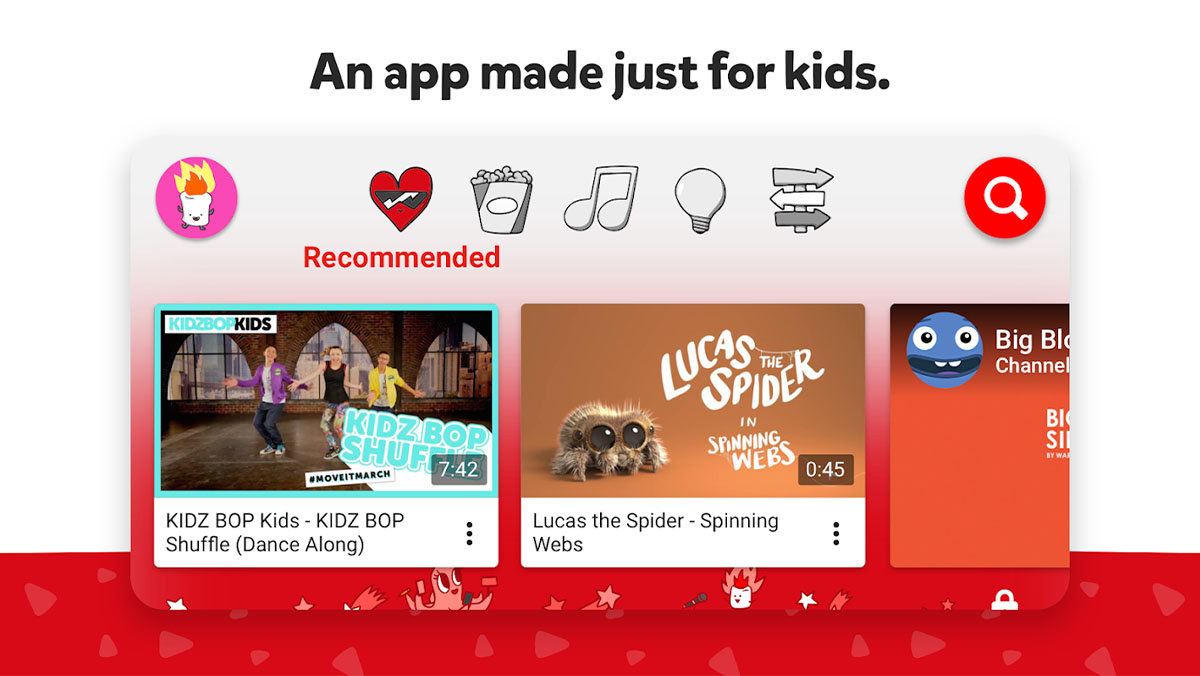 YouTube    Crianças é uma das melhores aplicações para crianças
