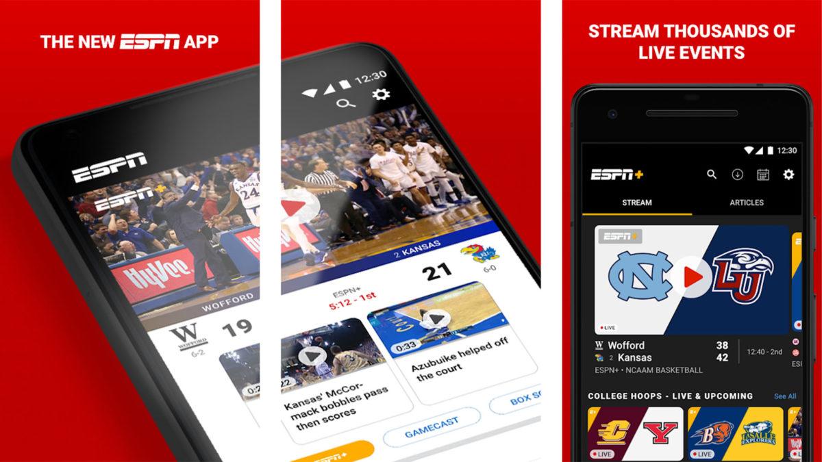 Captura de tela do ESPN 2020