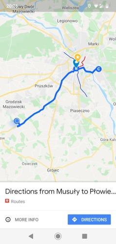 Jak zapisać trasę w Mapach Google zakończone