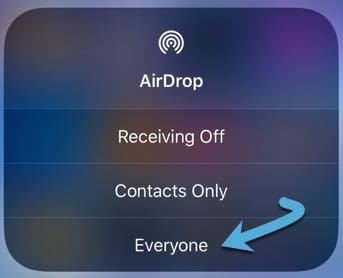 Napraw problemy Airdrop Ustaw odbieranie wszystkim iOS