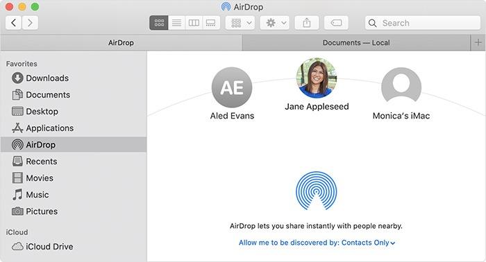 Napraw Airdrop Macos Finder Airdrop Send