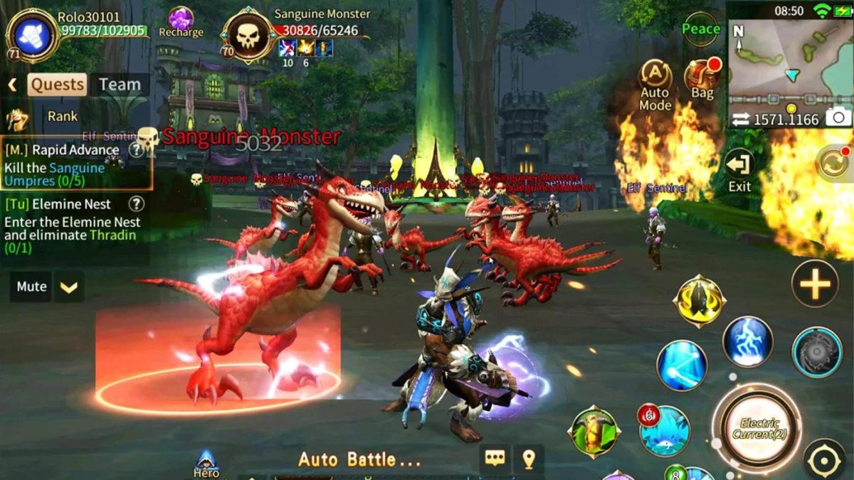Aikakausi Legends paras MMORPGs Android