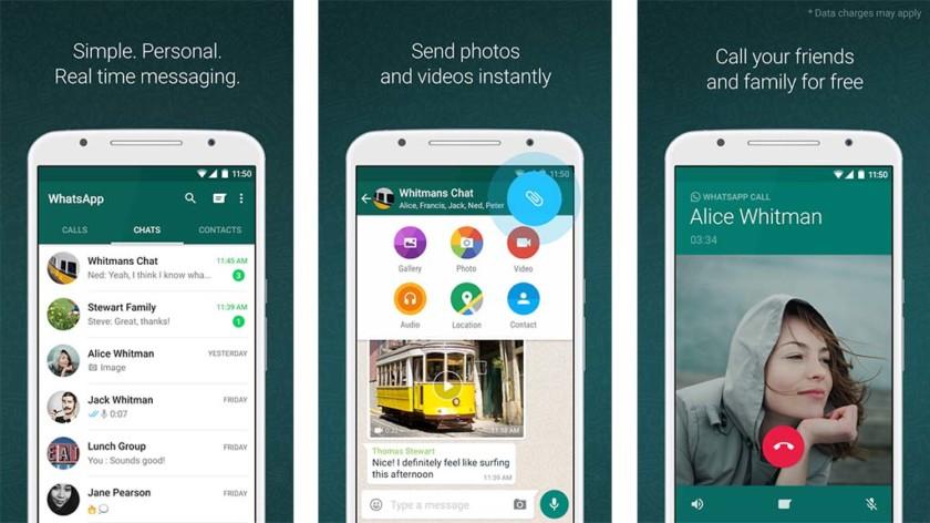 Zrzut ekranu WhatsApp dla najlepszej listy aplikacji do czatu wideo