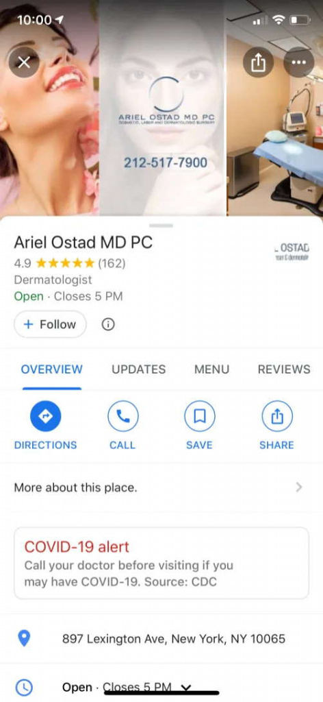 Google Maps COVID-19 choroba pomaga ostrzegać