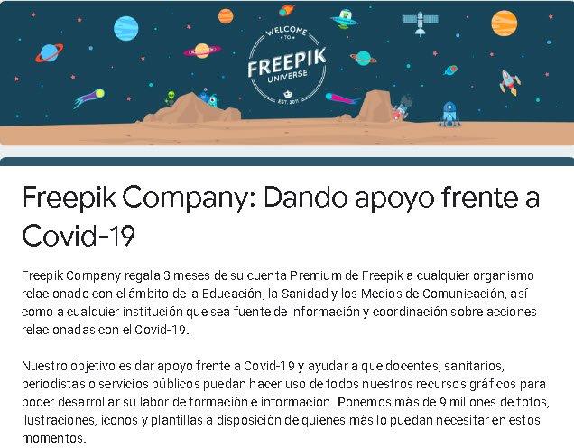 Freepik distribuuje prémiové účty na vytváranie informačných kampaní o koronavírusoch 1