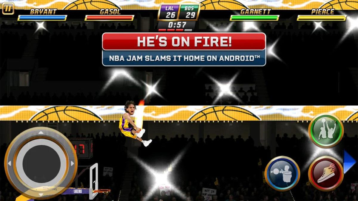 NBA Jam on yksi parhaista offline-peleistä Androidille