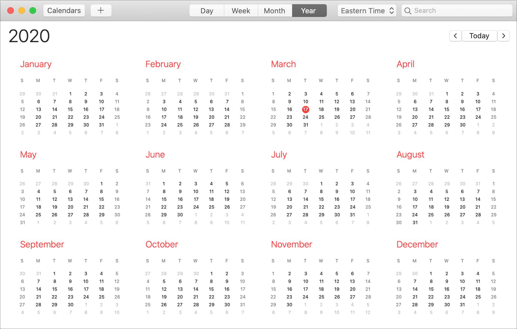 Kalenterivuosi Macilla