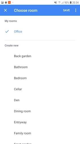 Para uma automação residencial mais eficiente, considere agrupar dispositivos inteligentes em salas.