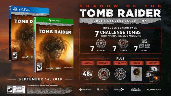 Tomb Raiderin varjo - Croft Steelbook Edition