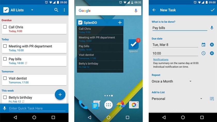 Tehtäväluettelo on yksi parhaimmista Android-sovellusluettelosovelluksista