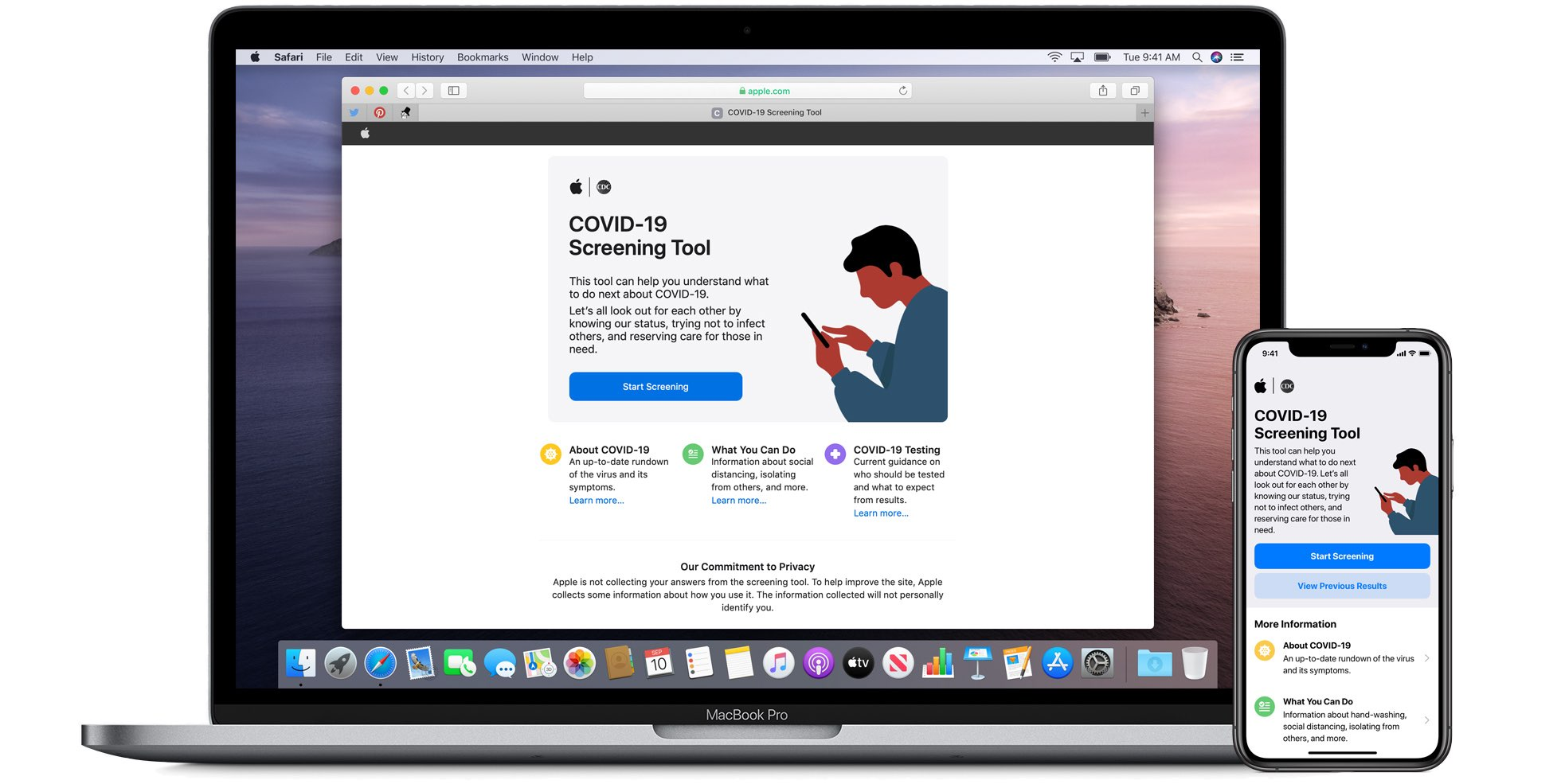 Apple  julkaisee erityisen sovelluksen ja verkkosivuston COVID-19, joka perustuu CDC-ohjeisiin 1