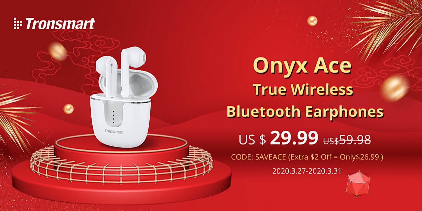 Osta Tronsmart Onyx Ace TWS -kuulokkeet vain 26,99 dollarilla
