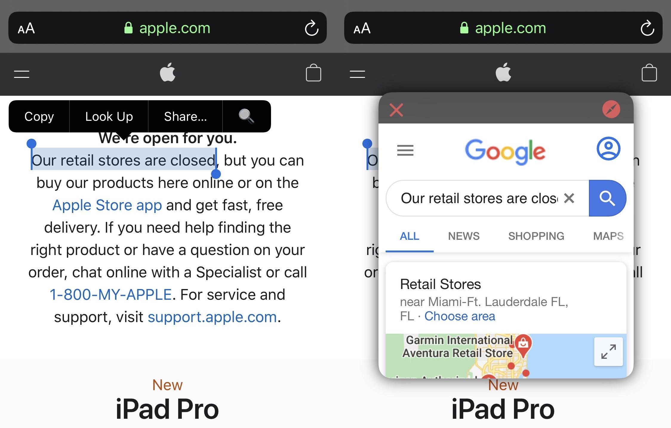 SITUM antaa sinun aloittaa hakulausekkeen mistä tahansa iOS-käyttöjärjestelmästä 1