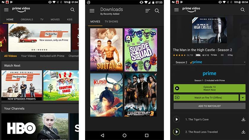 Amazon    Prime Video on yksi parhaista Android TV -sovelluksista