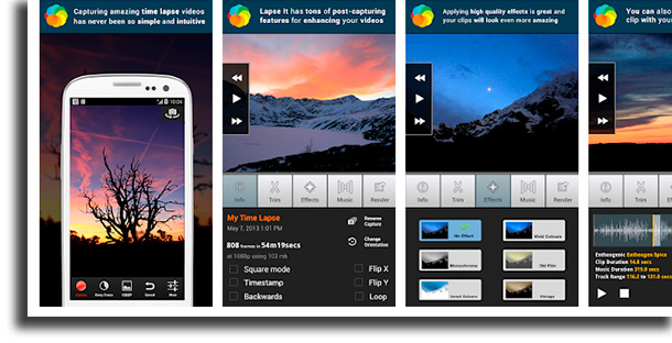 Lapse It aplicativos para acelerar e desacelerar filmes